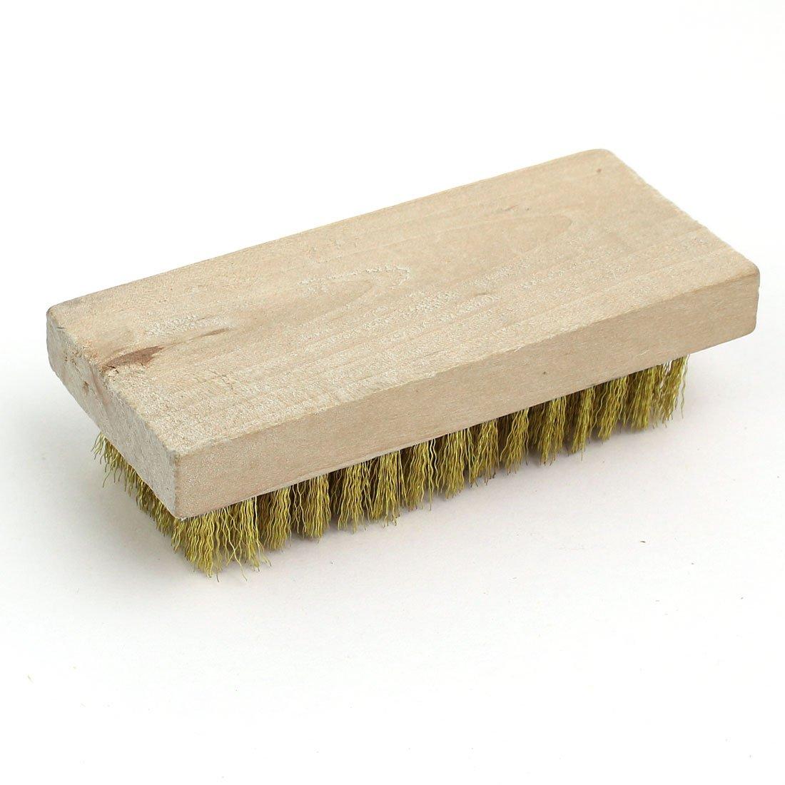 sourcingmap Holzbasis Messing Drahtb/ürste Reinigungswerkzeug f/ür Anilox Rolle Reinigung DE de