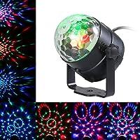 Bola Discoteca Luces LED,Lixada 3W RGB Mini Giratoria Crystal Mágica Bola Luz Discoteca,Automático/Sonido Activado,Luces de Escenario LED para KTV Navidad Fiesta Disco DJ