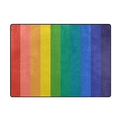 Amazon.com: Cooper niña arco iris área alfombra Colorful Pad ...