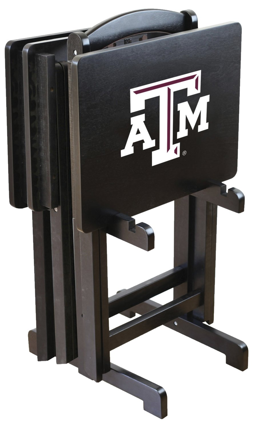 NCAA Texas A&M Aggies Tv Trays With Stand, One Size, Multicolor