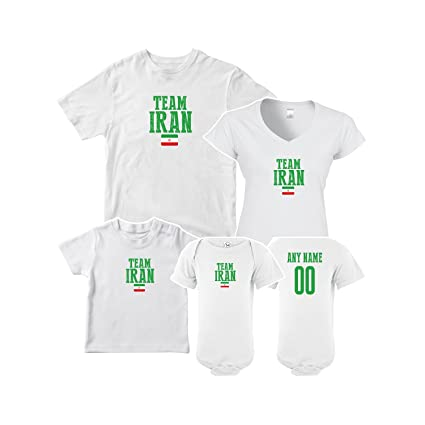 31fef5ae1 nobrand Iran T-shirt Team Flag Matching Set For All Family (Women White 2XL