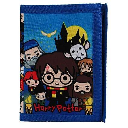 Monedero tríptico de los Personajes Oficiales de Harry Potter Chibi para niños