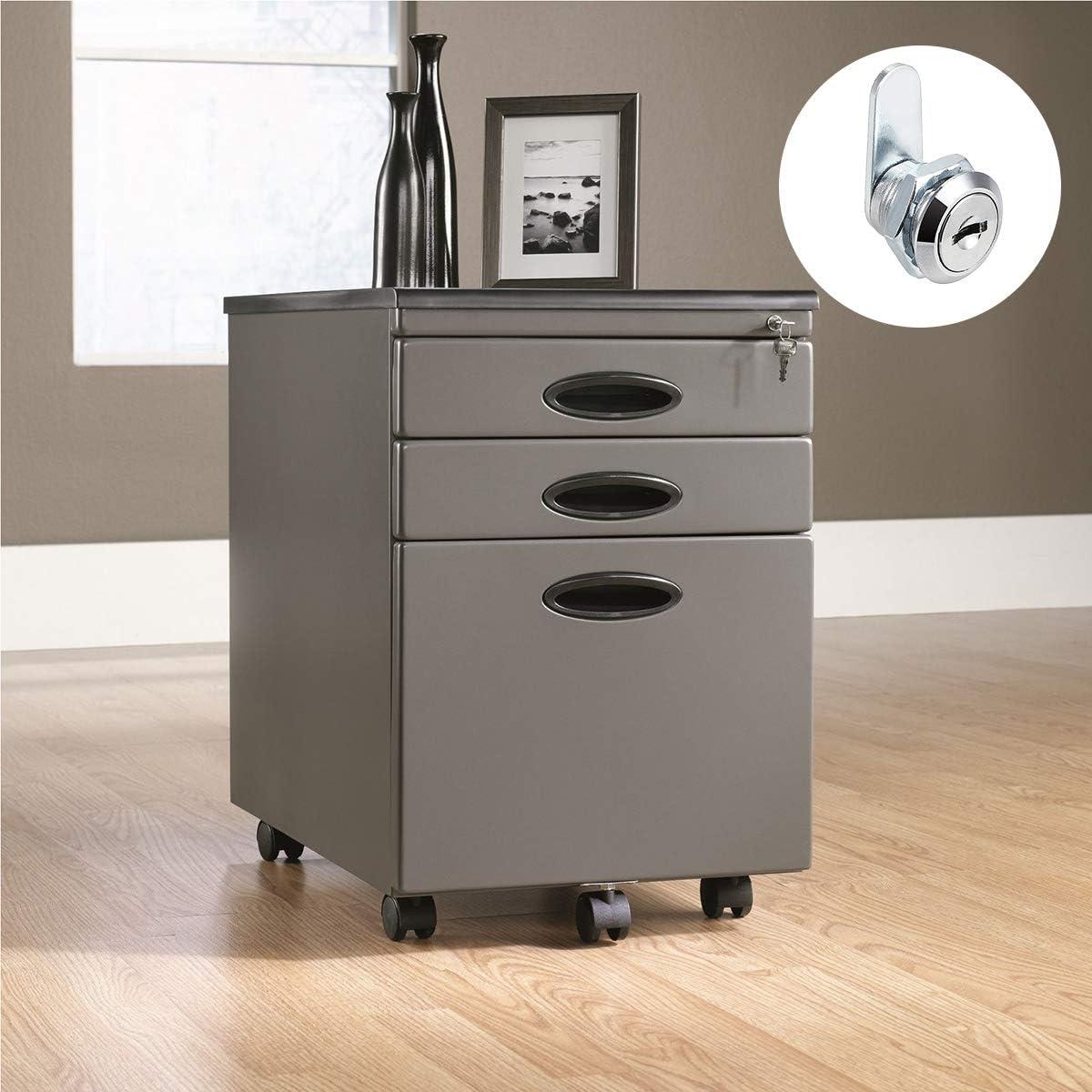 escritorio oficina Cerraduras de puerta de armario 2 unidades con 4 llaves. cerradura de seguridad para archivos armario