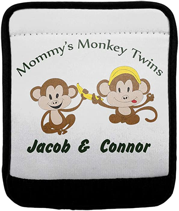 b78790700252 Amazon.com: Personalized Custom Text Mommy's Monkey Twins Polyester ...