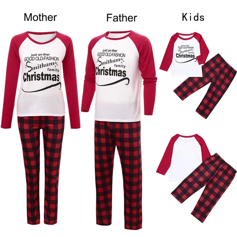 Amazon.com : Iusun Family Christmas Pajamas Matching Sets, Mom Dad ...