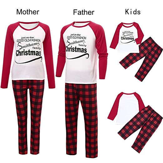 Christmas Family Outfits,Fineser Family Matching Mommy&Daddy&Me Long  Sleeves Letter Tops+Plaid Pants Family - Amazon.com: Christmas Family Outfits,Fineser Family Matching