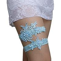 Advoult Lace Garter Set Wedding Garter Belt Flower Floral Design Garter for Bride
