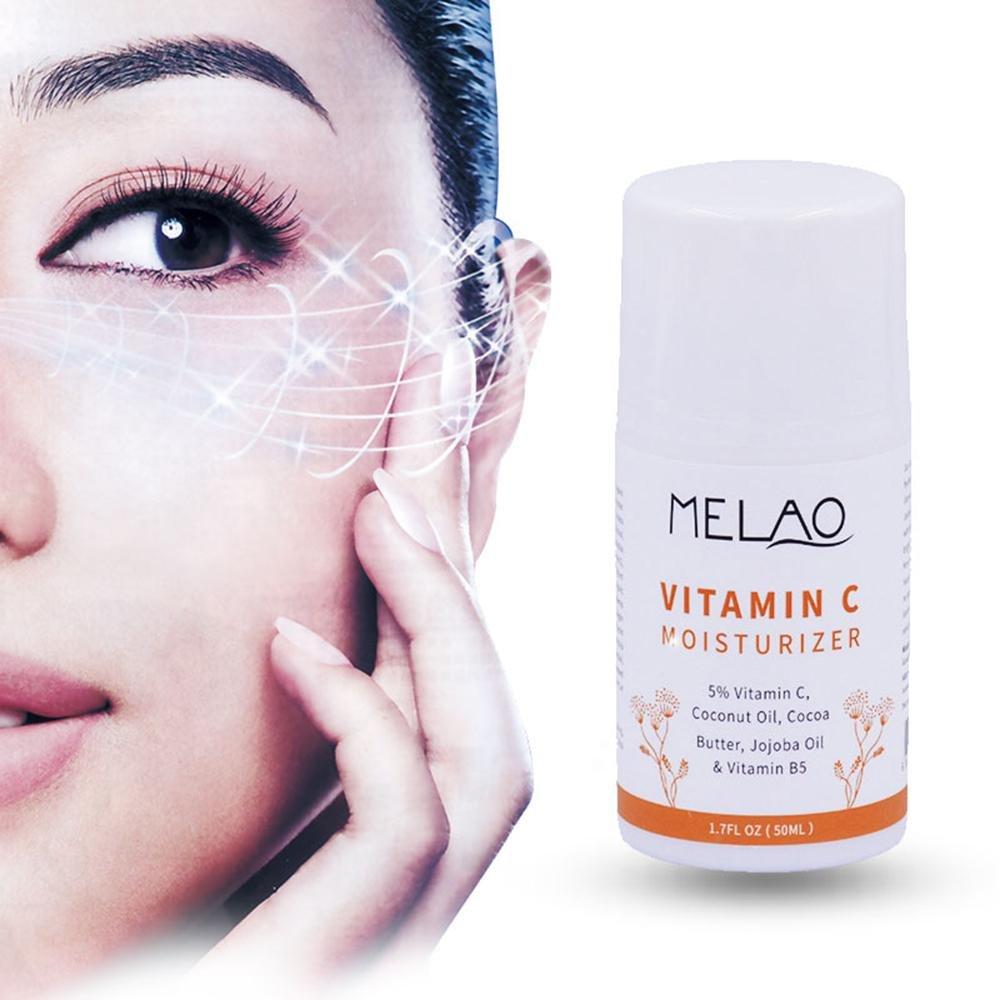 Amazon.com: Vitamin C Moisturizer, Leegoal Facial Anti Aging&Wrinkle Reducing Cream With 5% Vitamin C, Vitamin B5, Hyaluronic Acid, Organic Jojoba ...