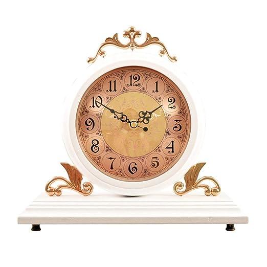 ZQG Reloj Europeo de Doble Cara Reloj de Mesa de Silencio de ...
