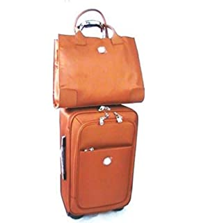 Amazon.com : JOY Colorblock Genuine Leather Carry-On Wheeled ...