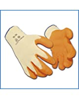 12 x Portwest Rubber Palm Scaffolding and Builders Work Gloves - Medium