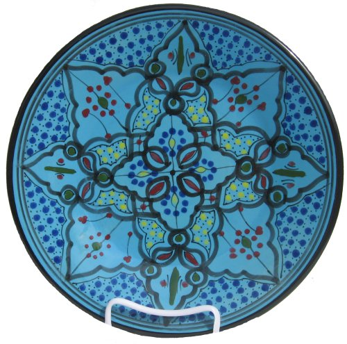 Le Souk Ceramique Dinner Plates, Set of 4, Sabrine Design - smallkitchenideas.us