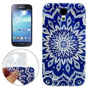 Flower Pattern Bud Protective Case Cover Carcasa de TPU Para Samsung Galaxy S4