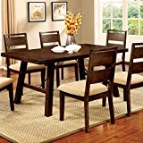 247SHOPATHOME IDF-3915T-7PC Dining-Room-Sets, 7-Piece, Brown