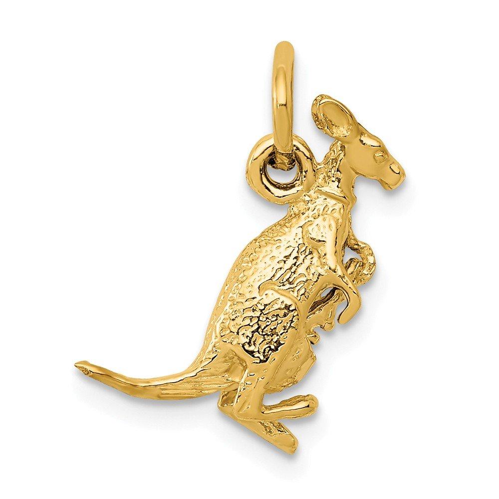 Diamond2deal Känguru mit Anhänger aus 14 Karat Gelbgold A0309