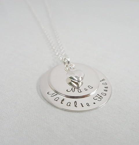 amazon com nana necklace layered discs personalized jewelry