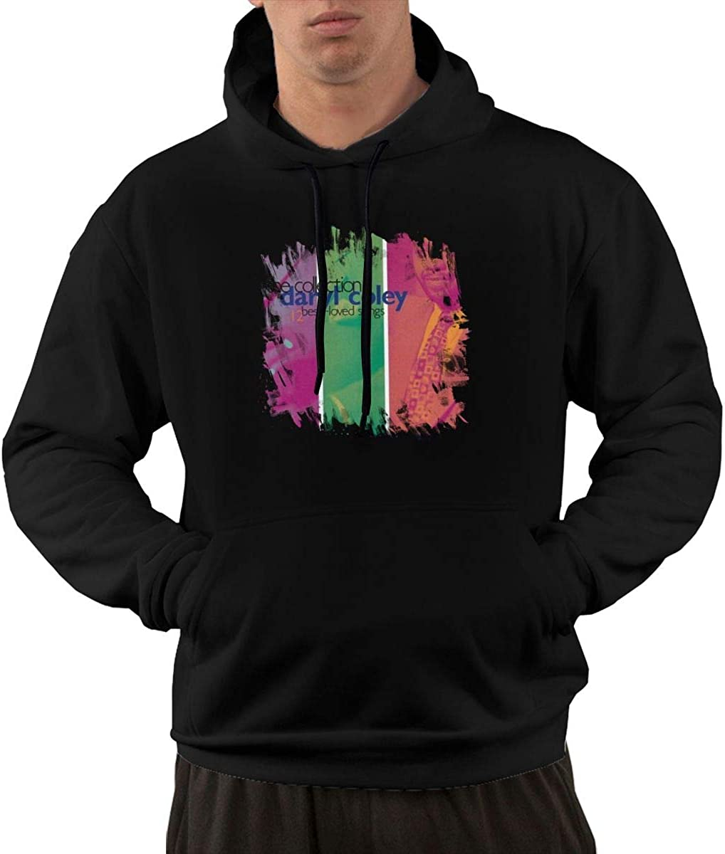 Dary Cole#Th Collectio- 12 BES Love Song Men's Hooded Pocket Sweater Black