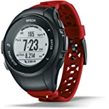 Epson E11E222042 ProSense 57 GPS Running Watch with Heart Rate from The Wrist - Red