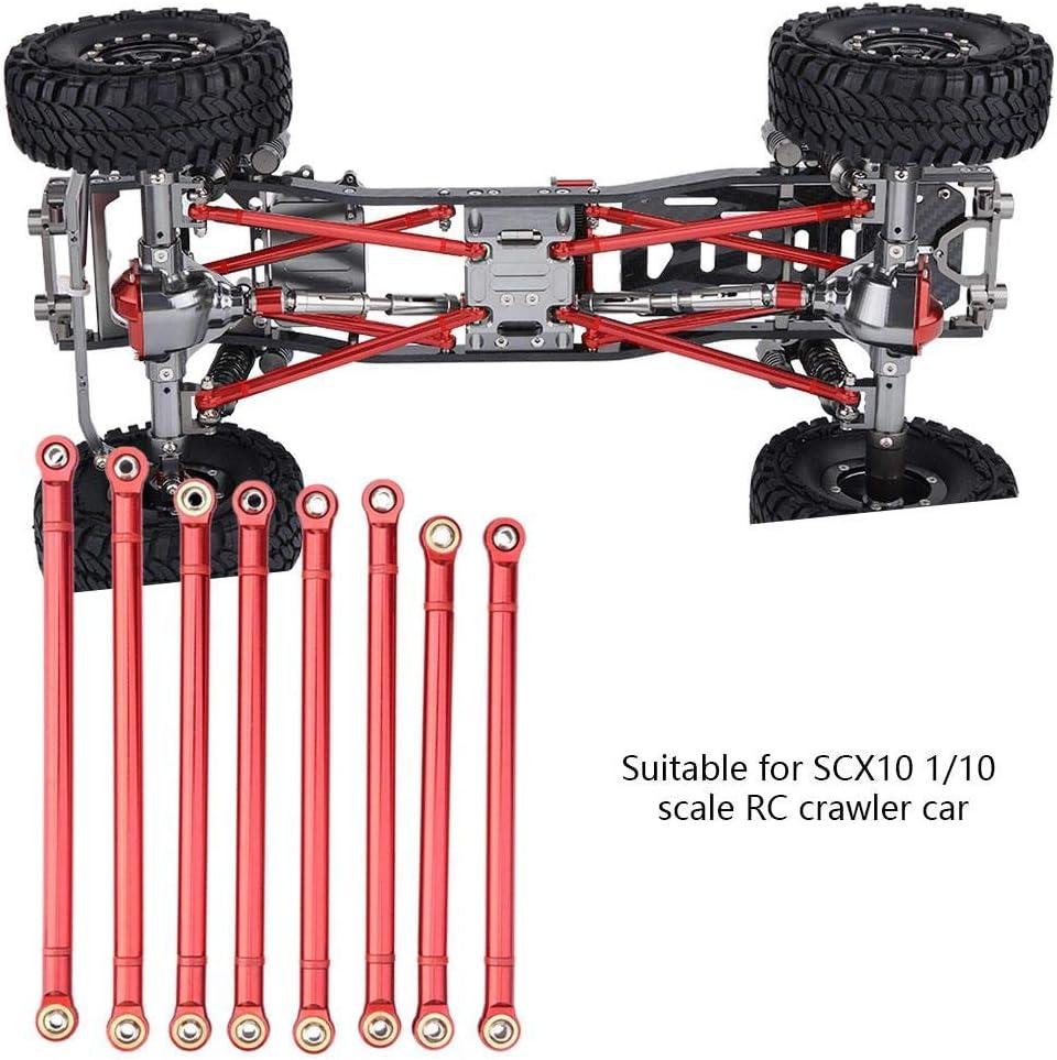 RC Coche Barra de Enlace del Chasis, 8 Pcs Aleaci¨®n de Aluminio Chassis Link Rod para SCX10 1/10 Escala 313mm Distancia Entre Ejes RC Crawler ...
