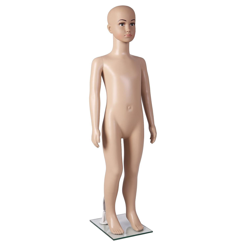 SONGMICS Manichino Bambino Bambina mannequin completo in plastica durevole con base per vetrina negozio abbigliamento MKIS02