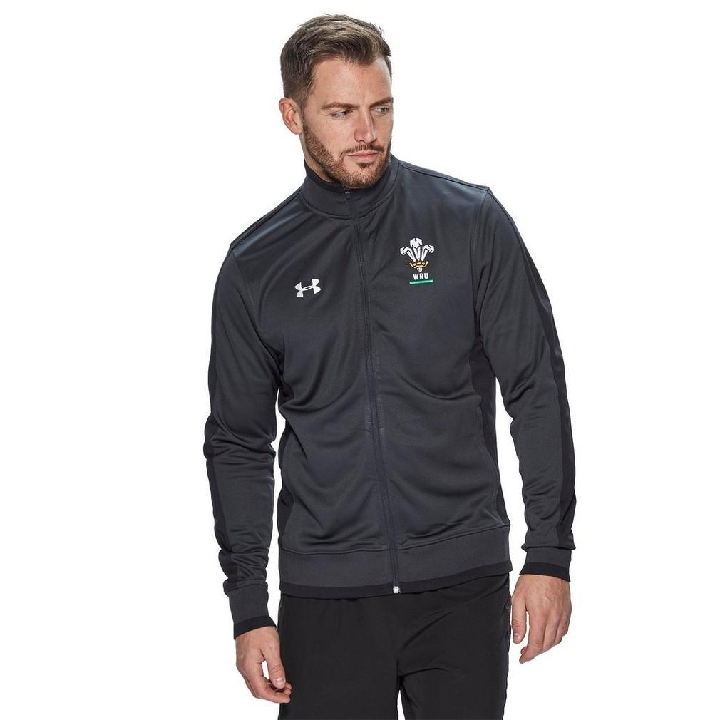 2018-2019 Wales Rugby WRU Track Jacket (Anthracite) B0776QH78JBlack XXL 50-52\