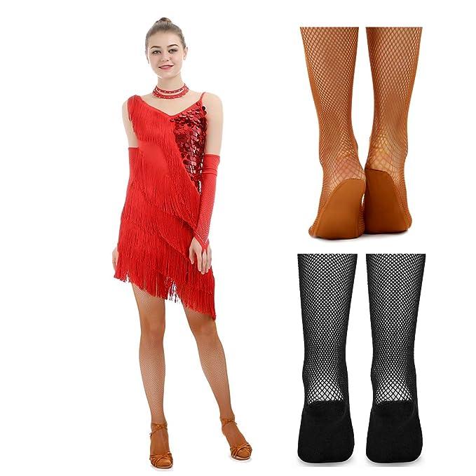 e0e85829a32 iMucci Antikid Cotton Sole Black Tan Professional Women Latin Tights  Fishnet Stockings Tights Samba Tango Pantynose