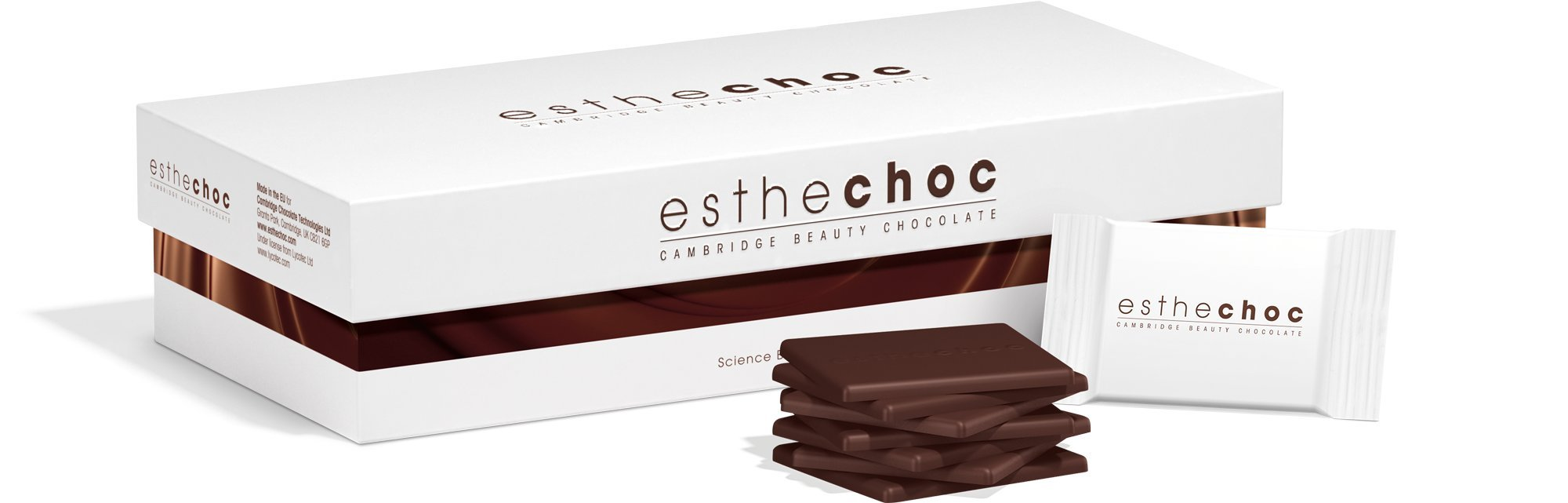 Esthechoc—Anti Aging Skin Care Beauty Chocolate Supplement—Packed with Polyphenols and Antioxidants including Astaxanthin