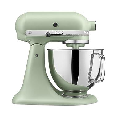 KitchenAid RRK150PI Artisan Series 5-Qt. Stand Mixer with Pouring Shield - Matte Pistachio (CERTIFIED REFURBISHED)