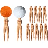 "YUYUGO Pack of 20 Golf Tees 3"" Golf Sexy Girl Lady Tees Nude Woman Plastic Golf Tees Fun Holder Divot Home Golf Training"