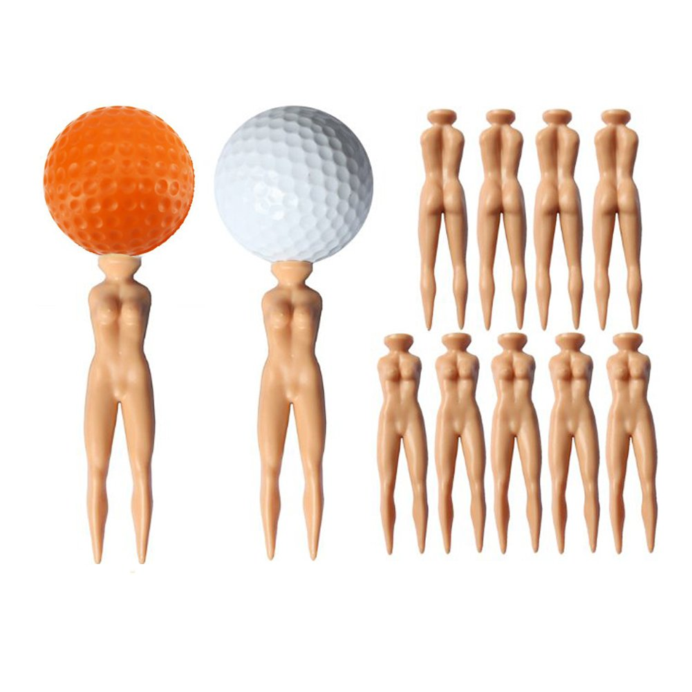 YUYUGO Pack of 20 Golf Tees 3'' Golf Sexy Girl Lady Tees Nude Woman Plastic Golf Tees Fun Holder Divot Home Golf Training