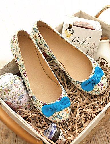 y PDX blue al carrera uk4 de vestido eu36 comodidad azul redonda pisos aire talón plano rosa casual us6 punta oficina zapatos cn36 tela mujer de libre 11SqaZrP