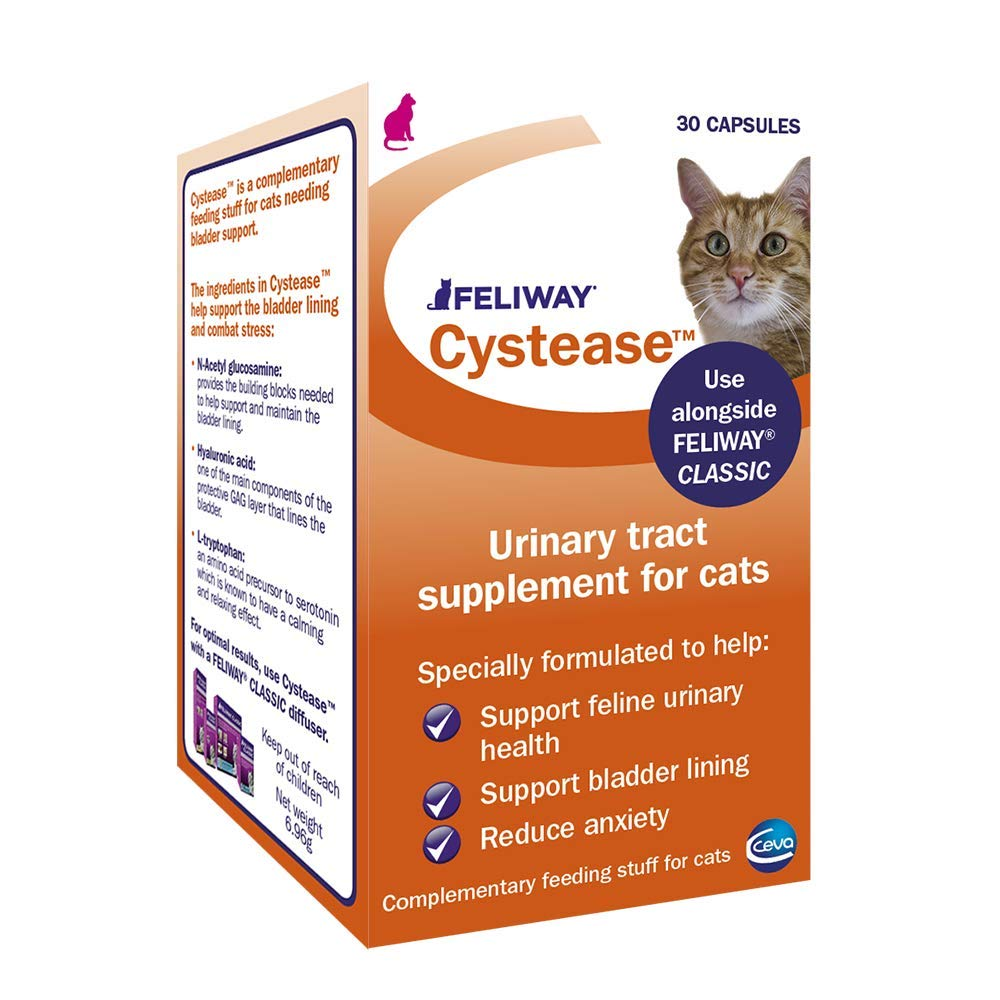 FELIWAY Cystease, for stress-related bladder problems in cats - 30 Capsules