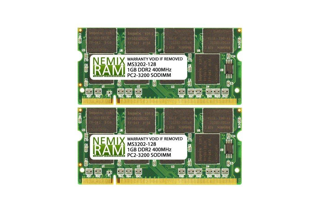 2GB (2X1GB) DDR2 400MHz PC2-3200 200-pin SODIMM Laptop Memory RAM