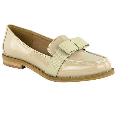 579c6ead688 Fashion Thirsty - Mocassins Femme avec Noeud Chaussure Plate de Danse