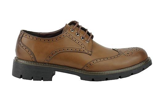 Xposed - Zapatos de cordones de piel sintética para hombre nnegro/marrón 3taTtkjzf
