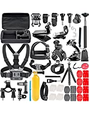 Neewer 58-in-1 Accessory Kit for GoPro Hero 7 6 5 4 3+ 3 2 1 Hero Session 5 Black AKASO EK7000 Apeman SJ4000 5000 6000 DBPOWER AKASO VicTsing WiMiUS Rollei QUMOX Lightdow Campark and Sony Sports DV