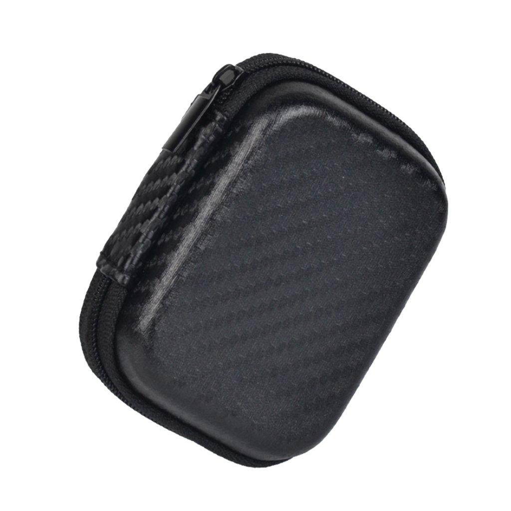IPOTCH Universal Tasche fü r in-Ear Kopfhö rer Aufbewahrungsbox, Schutztasche mit Reiß verschluss, Schwarz