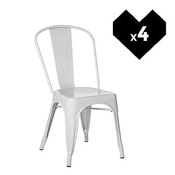 SKLUM Pack 4 Sillas LIX Blanco - (Elige Color)