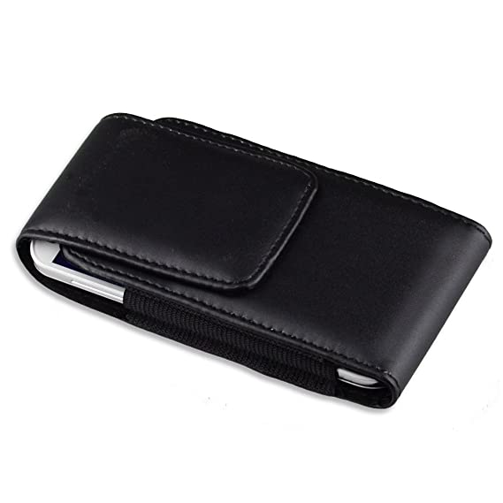 318fa4865f Faux Leather Vertical Case Holster with Belt Clip for 5 inch Smartphones  Samsung Galaxy S5
