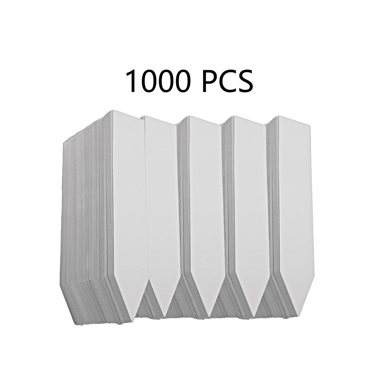 YIKUSH 1000 PCS PVC Plastic Plant Labels for Nursery Pots,4 inch,White by YIKUSH