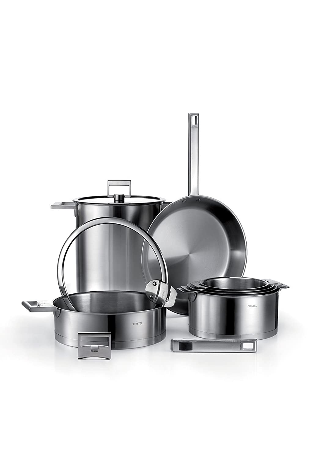 S24SFE Collection Strate Sauteuse inox 24cm Anti-adh/érent Exceliss+ Cristel couvercle