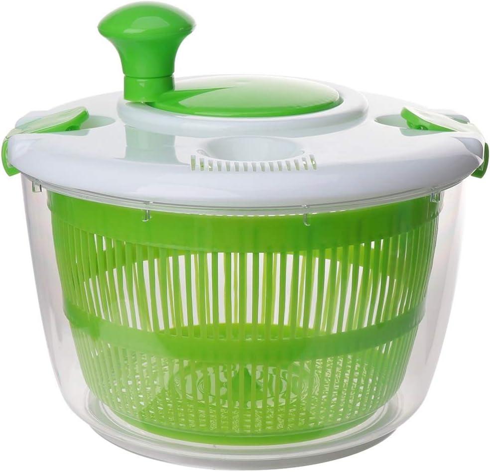 DOITOOL Kitchen Salad Spinner Lettuce Washer Dryer Drainer Crisper Strainer Compact Storage for Washing Drying Leafy Vegetables