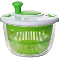 UPKOCH Kitchen Salad Spinner Lettuce Washer Dryer Drainer Crisper Strainer Compact Storage for Washing Drying Leafy…