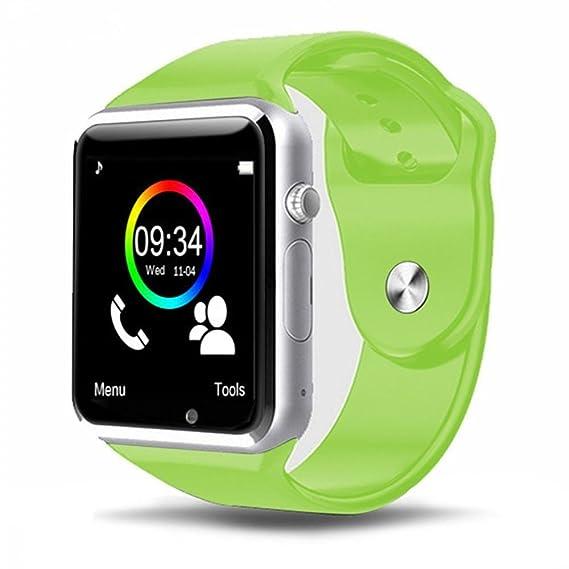 Teepao Smartwatch, Reloj Deportivo con Ranura para Tarjeta SIM, Pulsera Actividad, Reloj Iinteligente Hombre Mujer Niño, Podómetro, Calorías, Sueño, ...