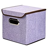 """XHSP Slap-up Durable Non-woven Fabric Containing Box,Home Storage Cubes Foldable Box Containers Drawers,10""""x10""""10"""",35L Grey"""