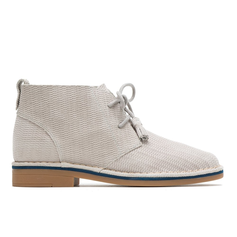 Hush Puppies Women's Cyra Catelyn Ankle Boot B0792H89K9 8 W US|Ice Grey Embossed Suede