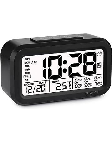VADIV Alarm Clock with 3 Alarms, Tsumbay Digital Alarm Clock for Kids, Time/