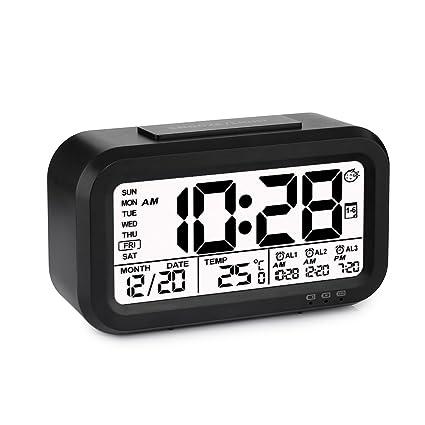 Reloj despertador de alarma digital, Programable, Batería ...