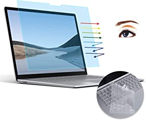 CaseBuy Surface Laptop 3 Screen Protector -Anti-Glare Blue Light Filter for Microsoft Surface Laptop 3 13.5 inch 2020 2019, Surface Laptop 3 Screen Protector with Ultra Thin Keyboard Cover