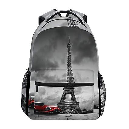 0825c3bc6e Artistic Effel Tower Paris France Backpack Waterproof School Shoulder Bag  Gym Backpack